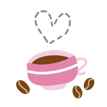 happy splat design_pink coffee cup